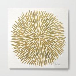 Golden Burst Metal Print