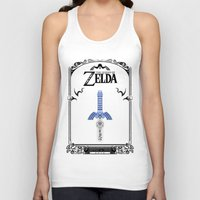 the legend of zelda Tank Tops featuring Zelda legend - Sword by Art & Be