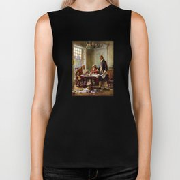 Writing The Declaration of Independence Biker Tank