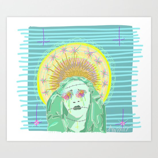 """Pastel Oppression""  Art Print"