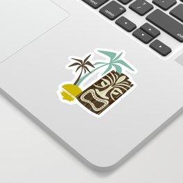 Island Tiki - Tan Sticker