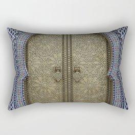 Arabic Mosaic Door gold Marokko Rectangular Pillow