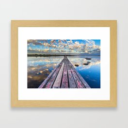 Pelican Jetty Framed Art Print