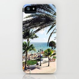 Ft. Lauderdale Beach   Photo iPhone Case