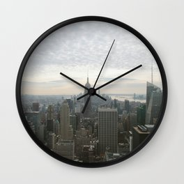 NYC from Above Wall Clock