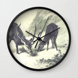 Vintage Deer Illustration 01 Wall Clock