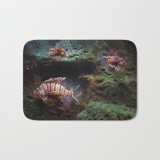 Everything's Fine on the Lion Fishway Bath Mat