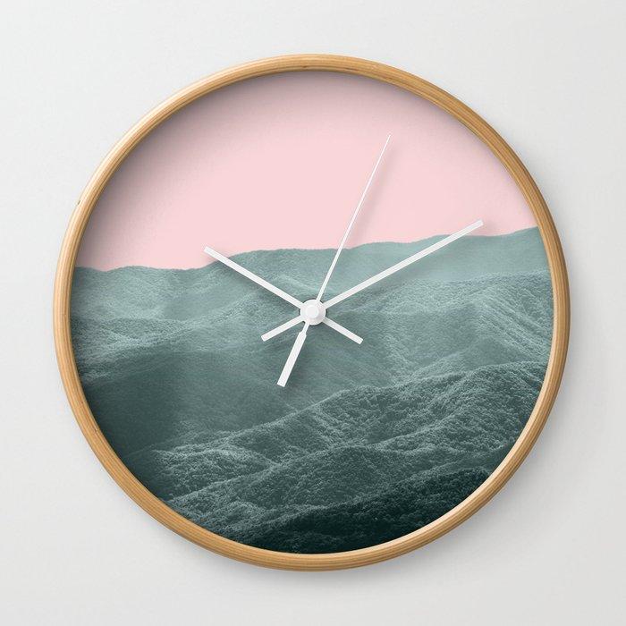 Smoky Mountain Summer Wall Clock