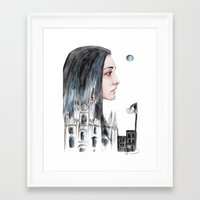 milan Framed Art Prints featuring Milan by Giulia Colombo