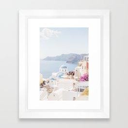 Santorini Pastels Framed Art Print