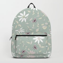 Bee and Floral Mint Backpack