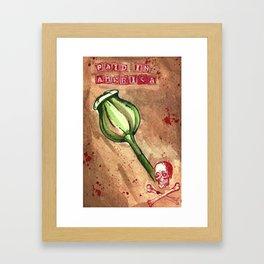 Poppy Poison ! Framed Art Print