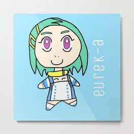 Chibi Eureka Metal Print