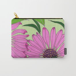 Echinacea on Pistachio Carry-All Pouch