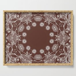 brown Mandala Serving Tray