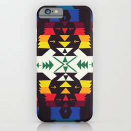American Native Pattern No. 129 iPhone Case