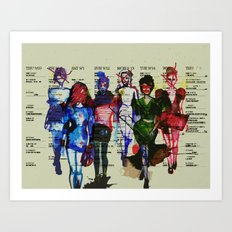 'Fashion is a form of ugliness...' Art Print