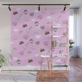 Miley in the Sky with Rainbows Wall Mural