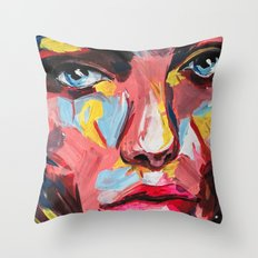 Impertinent I by carographic Throw Pillow