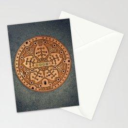 Tokyo manhole Stationery Cards
