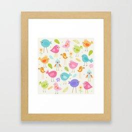 Birds - Off White Framed Art Print