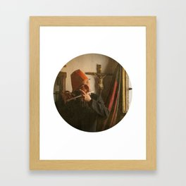 There was a child singing a very old Dutch sad song Framed Art Print