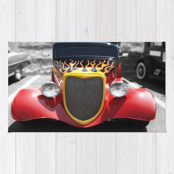 Car Hot Wheels Flames Photography Rug By Raymondearley Society6