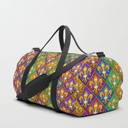 Harlequin Fleur di Lis Diamonds Duffle Bag
