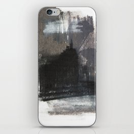 Abstract Texture, Black White & Grey Texture 1 iPhone Skin