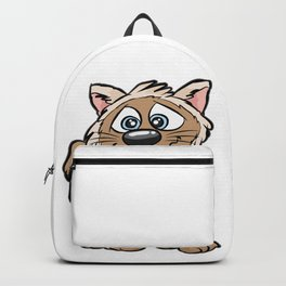 WEIRD CAT Crazy Mad funny Cartoon Comic Gift Backpack