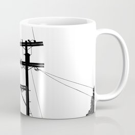 Power Lines at the bluff Coffee Mug
