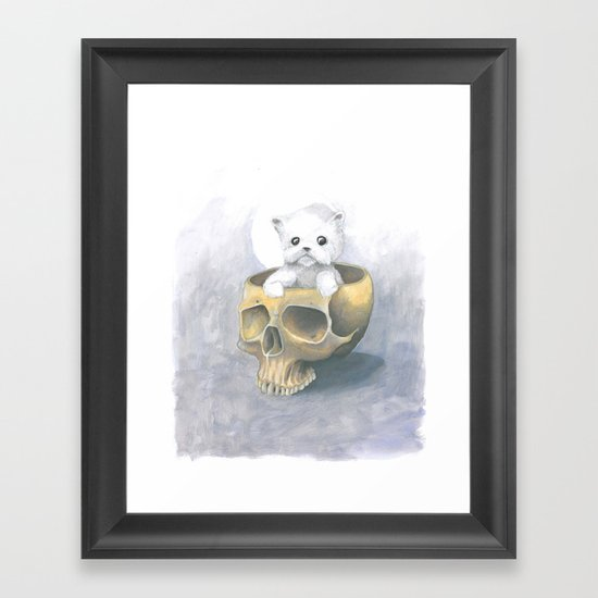 i ated all the brains Framed Art Print