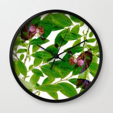 Blueberry Branch in Spring Wall Clock