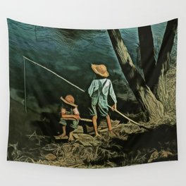 The Fishing Hole Wall Tapestry