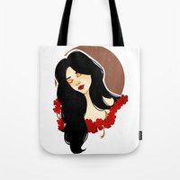 belle Tote Bags featuring belle by chazstity