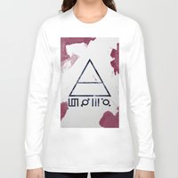 30 seconds to mars Long Sleeve T-shirts featuring 30 Seconds of Mars Watercolor by sky0323