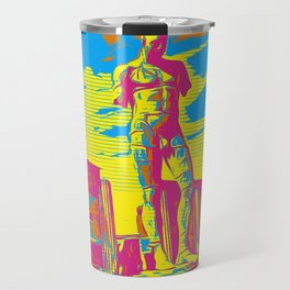 Italian Male Nude Statue with a modern twist Travel Mug