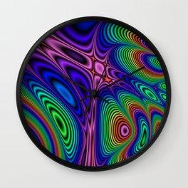 Fractal Op Art 11 Wall Clock
