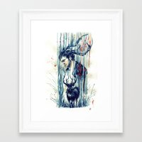 will graham Framed Art Prints featuring Will Graham by AkiMao