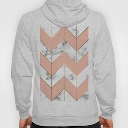 LUXE ROSE GOLD VECTOR ON BLACK AND WHITE MARBLE Hoody