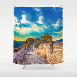Simatai West Great Wall Shower Curtain