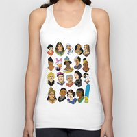 women Tank Tops featuring Women by Anette Moi