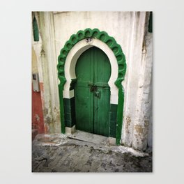 Green keyhole, Tangiers, Morocco Canvas Print