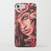 medusa iPhone & iPod Cases featuring Medusa by Justin sola