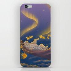 Golden fish and sailing polar bear  iPhone & iPod Skin