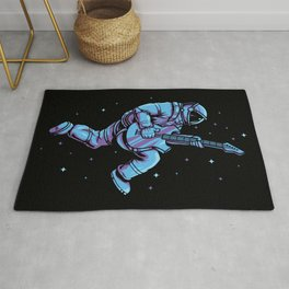 Rocking Astronaut With E-Guitar - Space Musician Rug