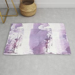 Gently violet abstract Rug