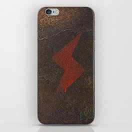 Rusty Lightning Bolt iPhone Skin