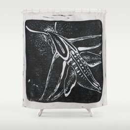 The Hummingbird Moth Shower Curtain