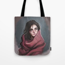 Wild Girl in the cold night Tote Bag